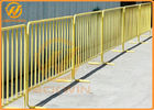 Road Safety Flat Foot Metal Galvanized Crowd Control Temporary Pedestrian Barrier