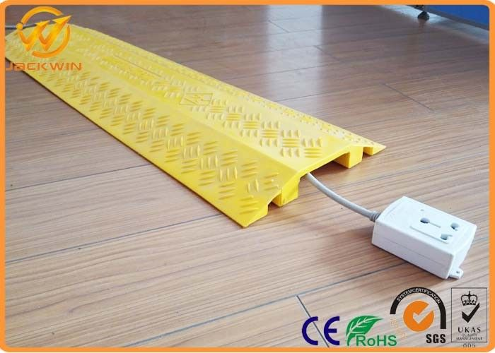 Light Duty Indoor Plastic Floor Cable Cover Cord Protector Yellow