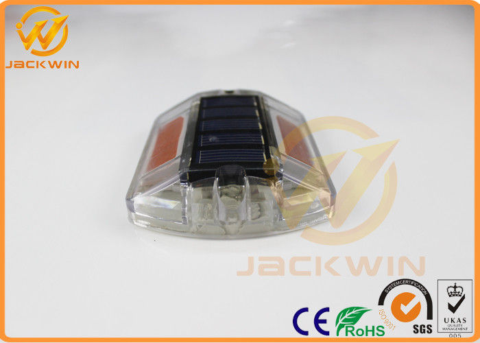 Yellow Polycarbonate Solar Road Cats Eyes Road Markings Path Deck Dock Led Light