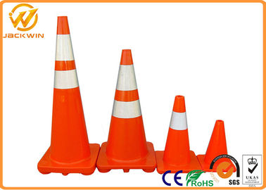 Reflective Orange PVC Traffic Safety Cones Impact Resistant 45cm / 70cm / 90cm Height
