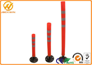 Reflective Flexible Delineator Post With Black Rubber Base Customized Height