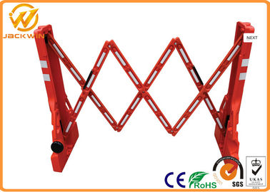 Crowd Control Adjust Plastic Traffic Barriers Portable Barricade Extensible Length 2.2 meters